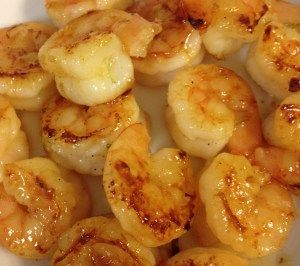 """Honey Lime Shrimp: ooh this was GOOD! We didn't have any lime juice so I substituted lemon juice instead, but the marinade was perfect! I served it over rice. Definitely a """"make again."""" Shrimp, olive oil, honey, lime, garlic, kosher salt, pepper, red pepper flakes"""