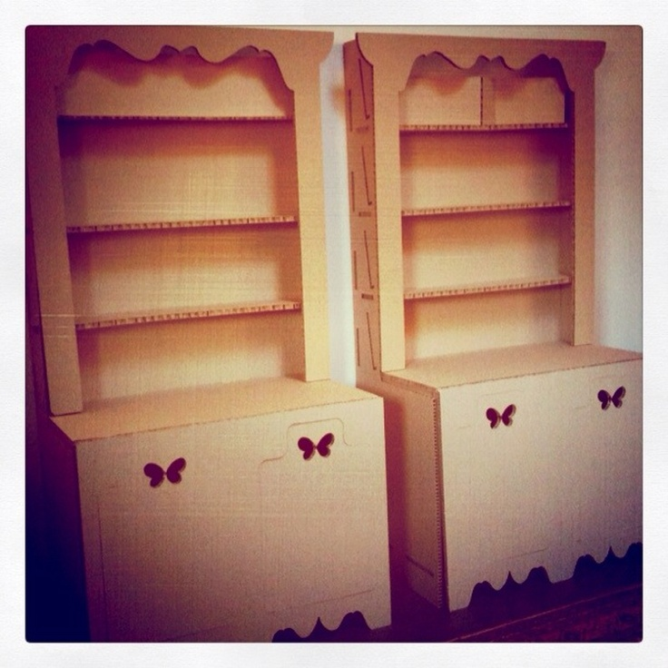 These cardboard Welsh dressers were made for us by the wonderful Shell Thomas.  http://www.shellthomas.com/