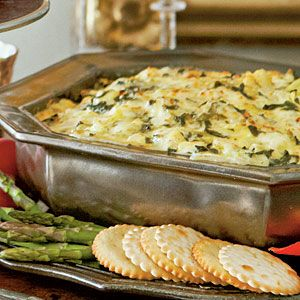 Festive Holiday Appetizers | Hot Spinach-Artichoke Dip | SouthernLiving.com