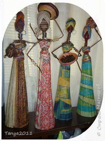 Мастер-класс Поделка изделие Декупаж Моделирование конструирование Плетение Африканочки Вариации на тему Бумажные полосы фото 1