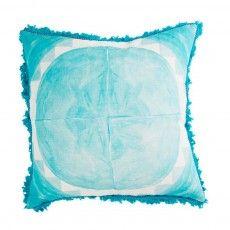 Large Dot Tile Turquoise Cushion - Bonnie and Neil