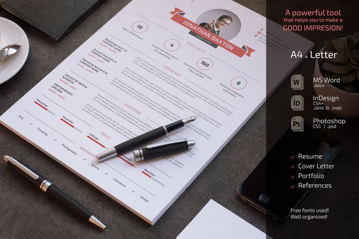 Clean and Simple Resume CV Set by Sabin on Creative Market