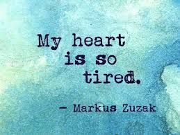 Mi corazón está muy cansado...Hay situaciones que no dan más de si y llega el momento de distanciarse de verdad.