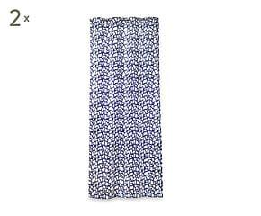 2 Rideaux GIRA polyester, bleu - 135*270
