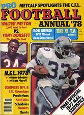 1978, Pro Football Annual, magazine,Tony Dorsett, Dallas Cowboys, Walter Payton Wow my two favorite running backs in the same pic!