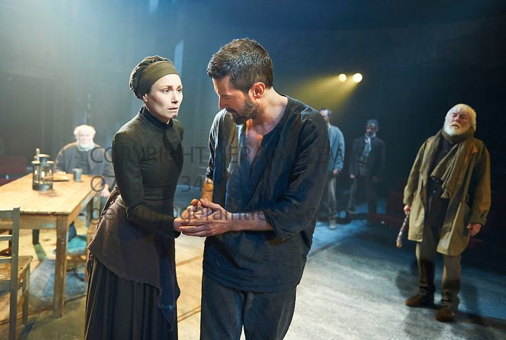 """The Crucible by Arthur Miller* Richard Armitage as John Proctor, Anna Madeley as Elizabeth Proctor.  """"Sex, sin, and the Devil were early linked.""""  — Arthur Miller (The Crucible)"""