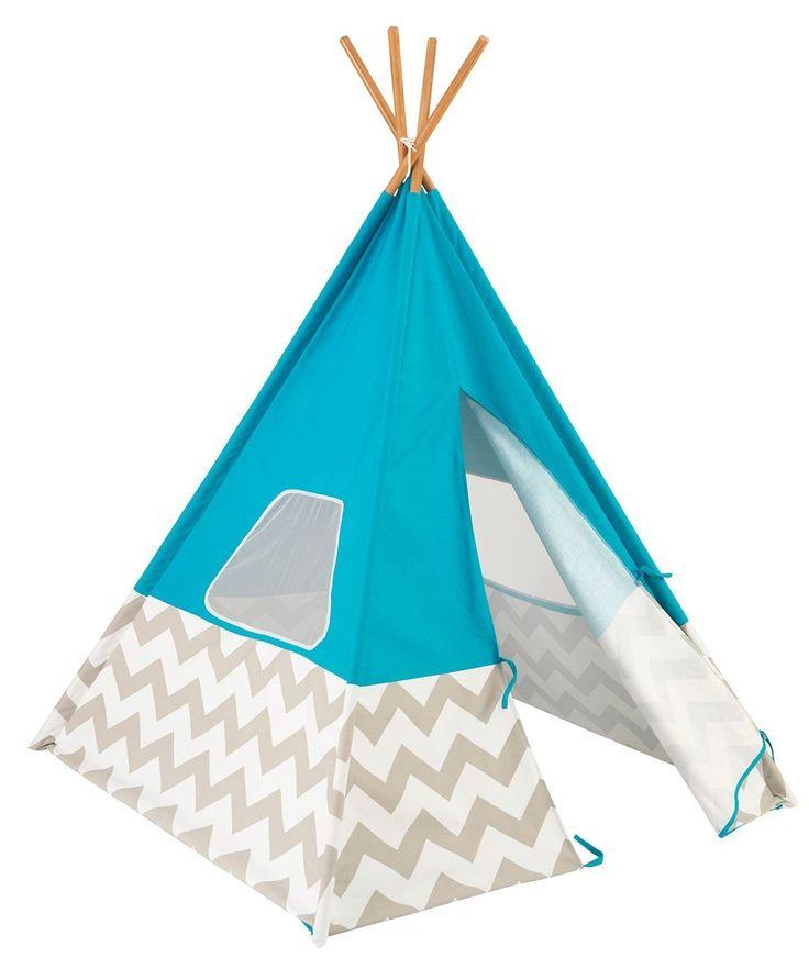 Kids Indoor Chevron Fort Teepee Tent
