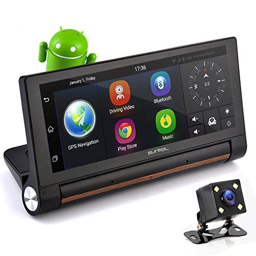 """GPS Touchscreen Android DVR Dashcam - 7"""" Display 