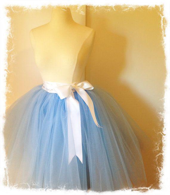 The Alice in Wonderland Blue Tutu Costume Set 4 by darkponydesigns, $182.00