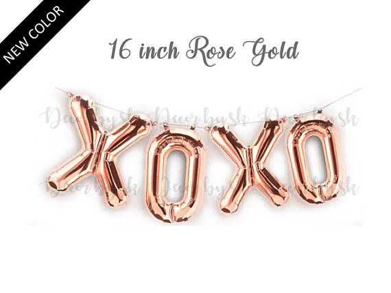 Hey, I found this really awesome Etsy listing at https://www.etsy.com/listing/539137517/16-inch-xoxo-balloons-rose-gold-mylar