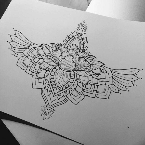 Цветок лотоса тату