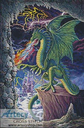 Dragons Lair Cross Stitch Pattern http://www.artecyshop.com/index.php?main_page=product_info&cPath=74_76&products_id=350