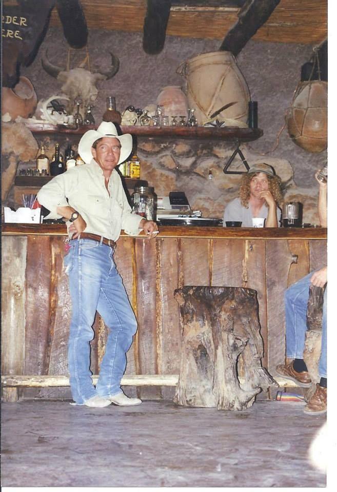 Cowboy Doug and Glenn Felts in La Kiva, photo by Angie Dean