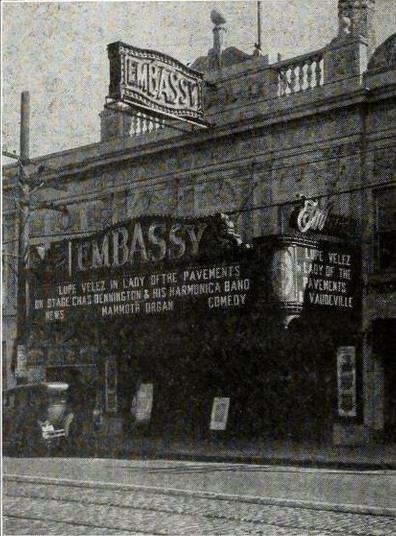 Embassy Theatre North Bergen New Jersey 1926