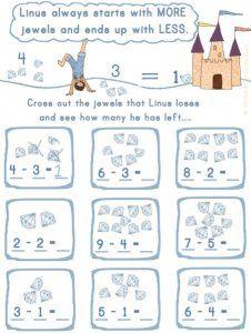 Simple, fun subtraction practice with Linus Minus!