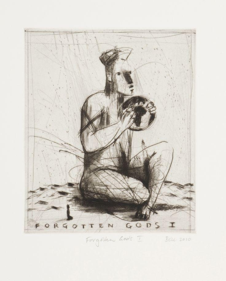 Forgotten Gods I (2010).Edition of 20. Drypoint