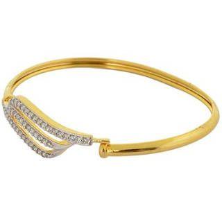 Brass Cubic Zirconia Yellow Gold Bracelet Handmade Bracelet for women
