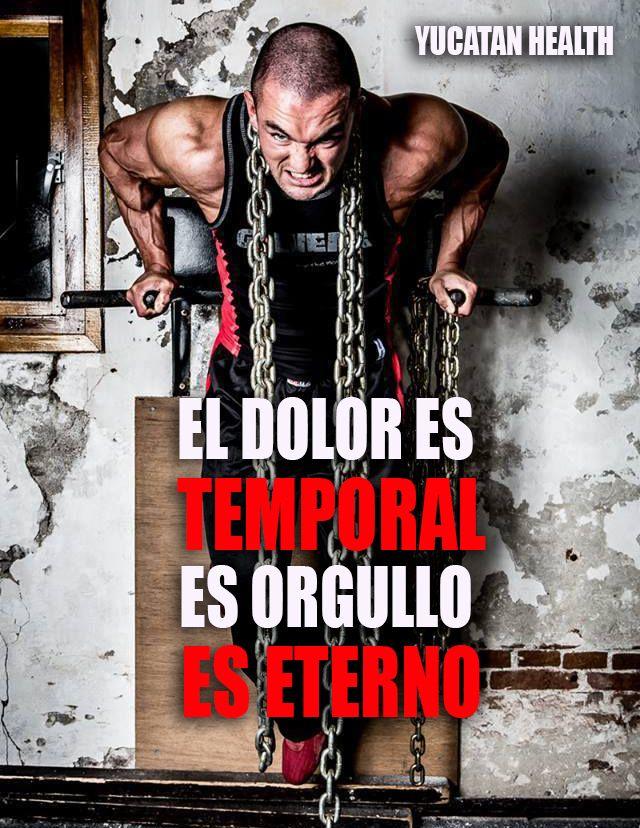 El #dolor es #temporal, el #orgullo es #eterno ... #motivation #motivacion #fitness #inspiracion #fitnessmotivation #fitforlife www.facebook.com/yucatanhealth