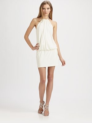 Laundry by Shelli Segal - Ring Neck Mini Dress - Saks.com