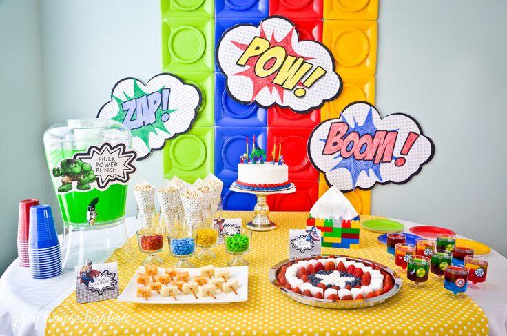 Вечеринка супергероев в стиле Lego: mamam_i_detkam