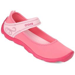 Sapatilha Crocs Duet Busy Day Mary Jane GS Juvenil - Coral