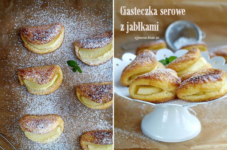 Serowe ciasteczka z jabłkiem