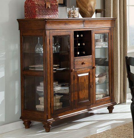 620 52x20x50 Oak Finish Dining Curio Grand Home Furnishings 0223064