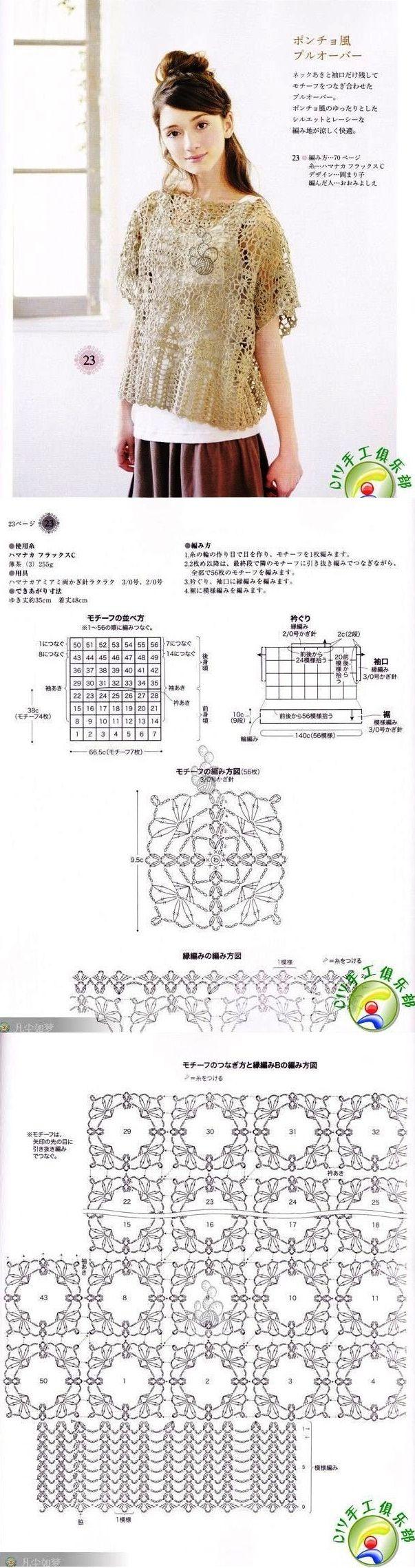 Stitch crochet pattern unit for women