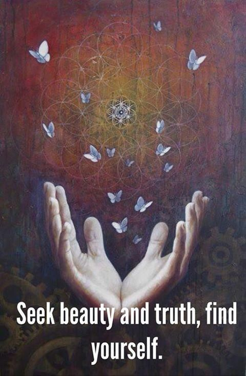 Seek beauty and truth. Find yourself.