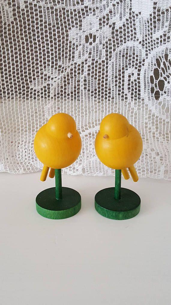 Vintage Aarikka wooden birds Sirkkunen Made in