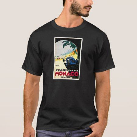 Monaco Grand Prix Car Race Travel Art T-Shirt - tap to personalize and get yours