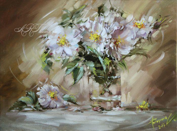 цветочки 30х40 №001
