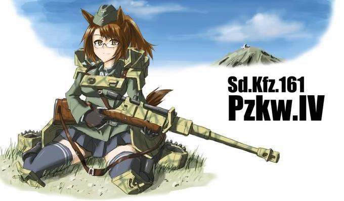 Panzer Fox Gijinka Moe Anthropomorphism Tank Girl Anime Tank Anime Military