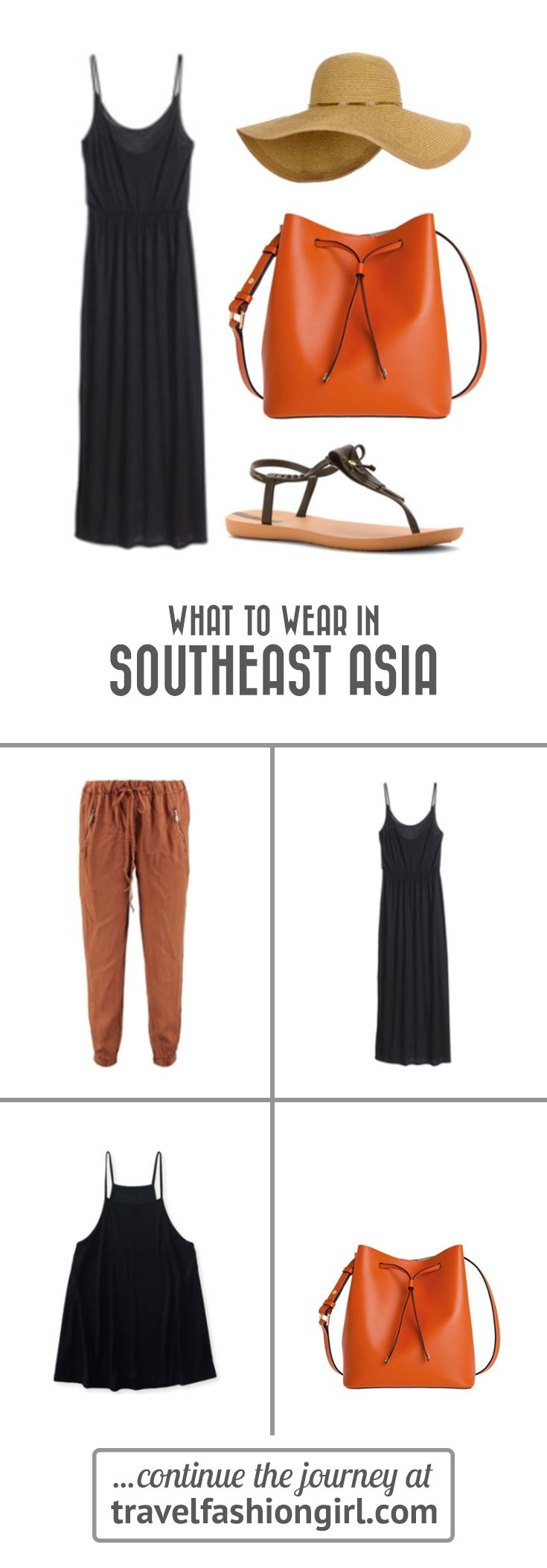 Wondering what to wear in Southeast Asia? Travel Fashion Girl shows you what to pack and when to pack it. Find out our top SEA travel essentials! http://travelfashiongirl.com/backpacking-southeast-asia-the-ultimate-packing-list/ via @travlfashngirl #packing #list #travel