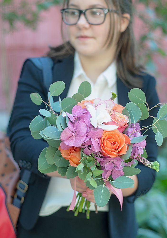 цветы, букет, школа, подарок, радость, 1 сентября, осень, гортензия. роза