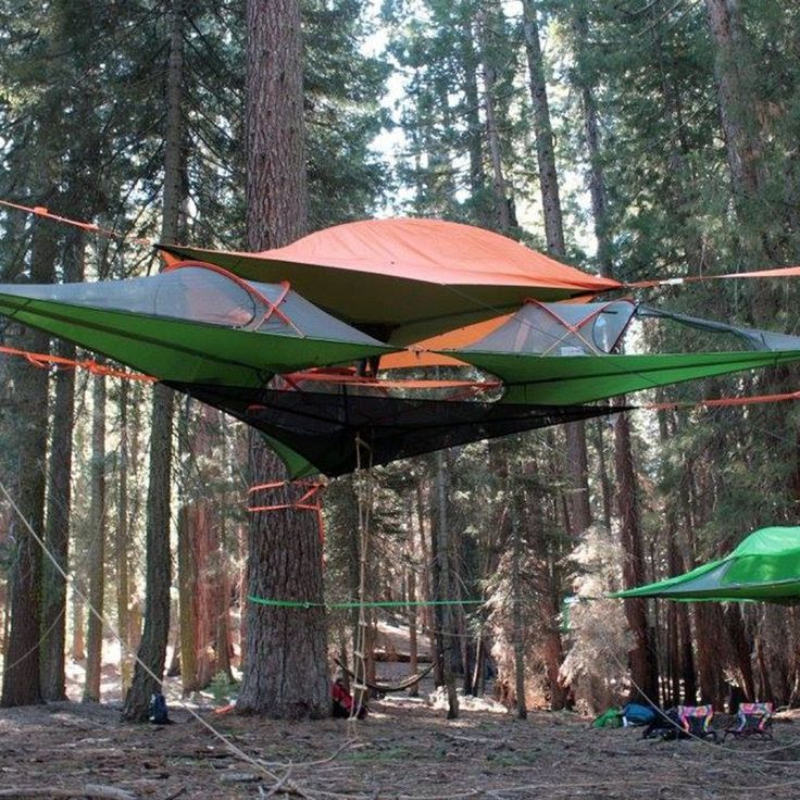 orange hammock tents