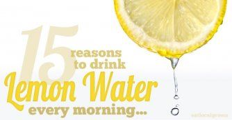 15 Reasons You Should Be Drinking Lemon Water Every Morning--squeeze half a lemon into room temp water