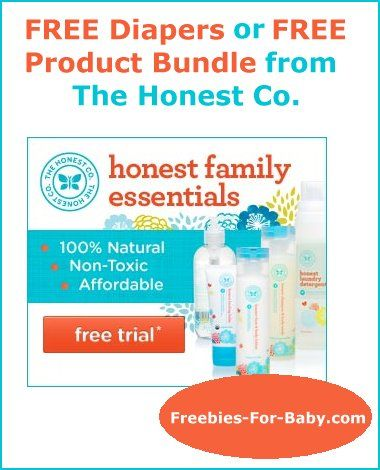FREE Diapers or Free Product Bundle from The Honest Co.  #diapers #baby #honest