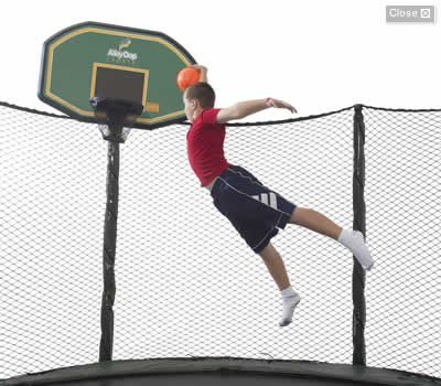 Trampoline Accessories - Trampoline Tent and Basketball Set #JumpSportStaycation
