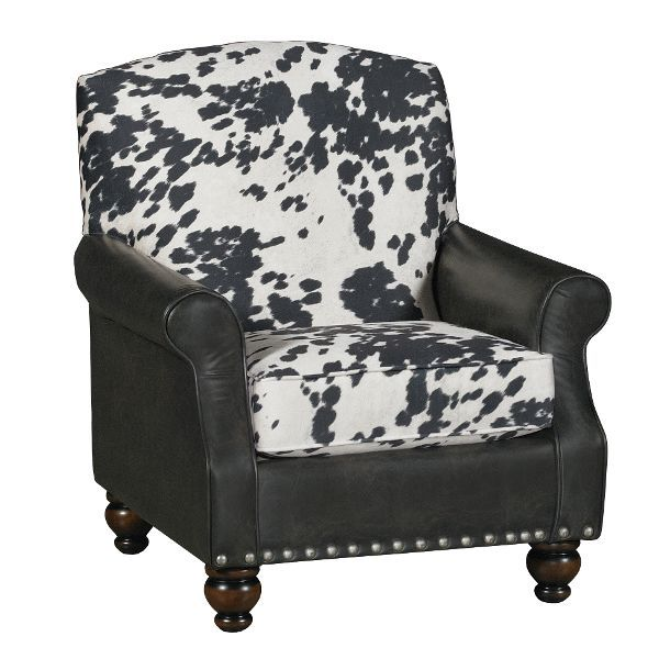 Best Cow Print Black White Accent Chair Udder Madness 400 x 300