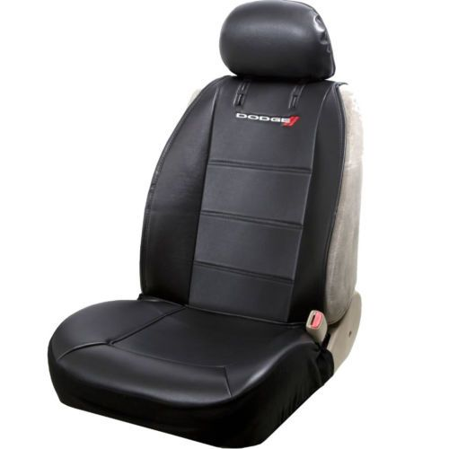 details   piece universal black pu leather sideless seat covers steering wheel  dodge