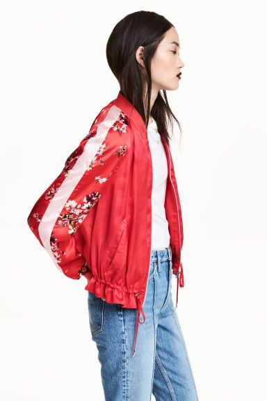 Satin bomber jacket | H&M