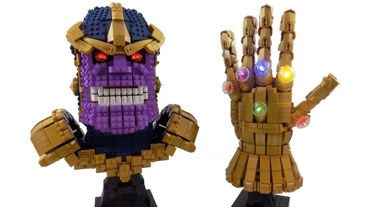 LEGO Thanos Wields The Power of The LEGO Infinity Gauntlet
