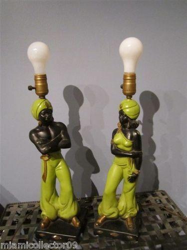 White Mid Century Table Lamp