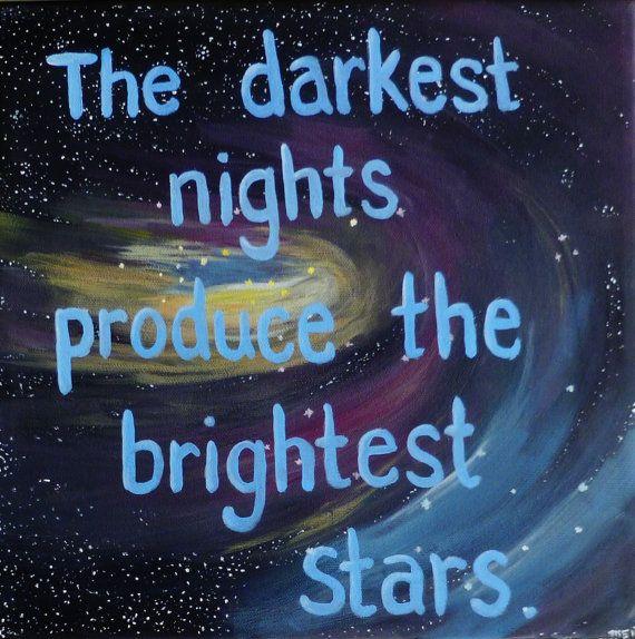 Inspirational Quotes on Canvas Quote Paintings The Darkest ...