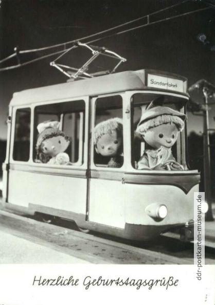 1977, Sandmann fährt Straßenbahn