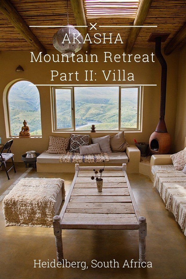 AKASHA Mountain Retreat Part II: Villa Heidelberg, South Africa Step through a magical doorway and follow us to a faraway place in the mountains where quiet and calm abounds. Akasha Mountain Retreat is a peaceful Moroccan style villa in a serene and romantic