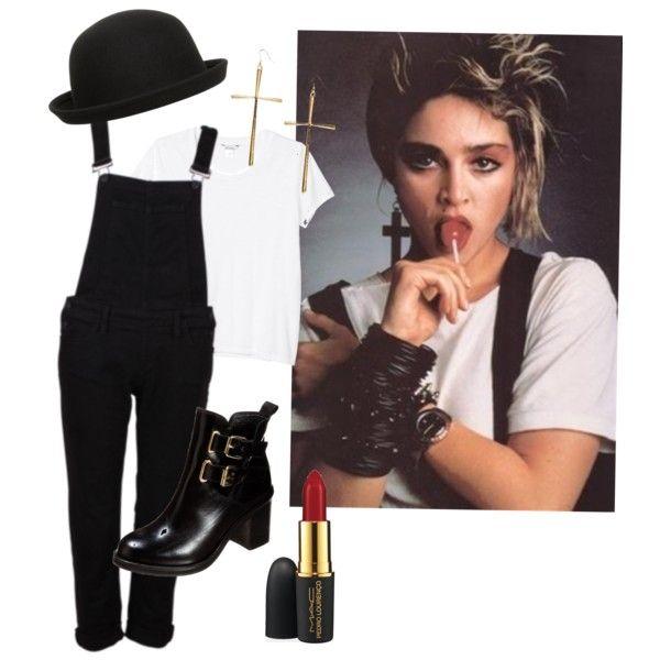 Madonna - 80's Lollipop Shoot by cxurt-ney on Polyvore featuring Monki, Jonak, Boohoo, Dorothy Perkins and MAC Cosmetics