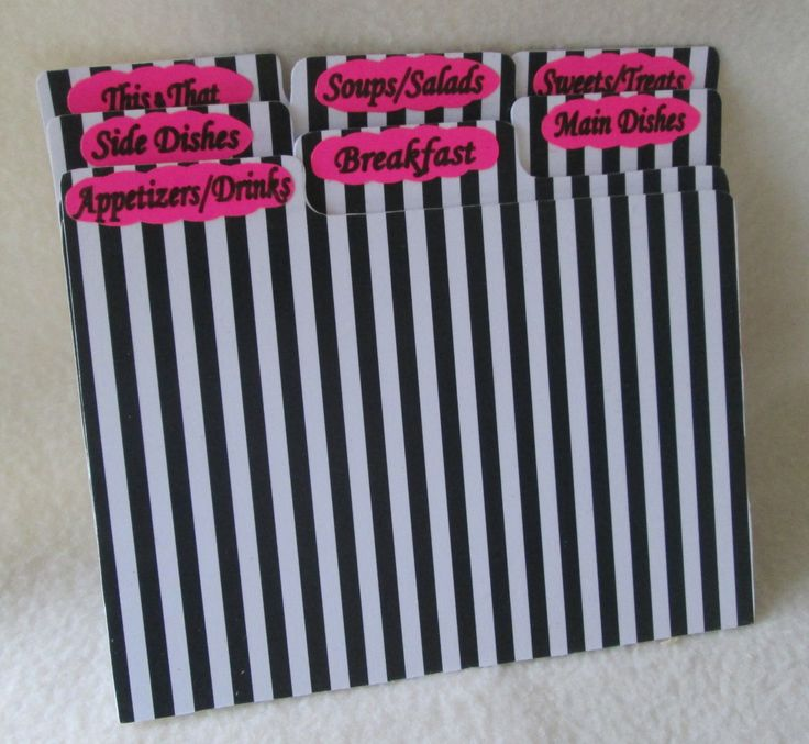 Large recipe box dividers index cards kitchen