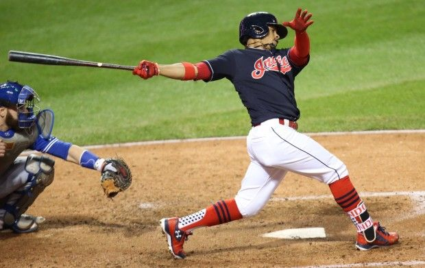 Lindor's two run blast during game one of the ALCS Indians won 2-0